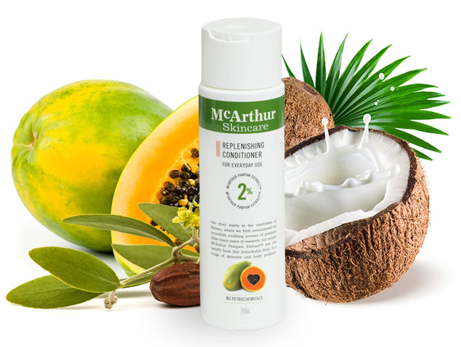 McArthur Skincare's Replenishing Conditioner Natural Ingredients