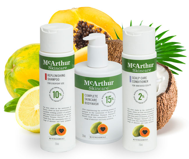 McArthur Skincare's Replenishing Shower Pack Natural Ingredients