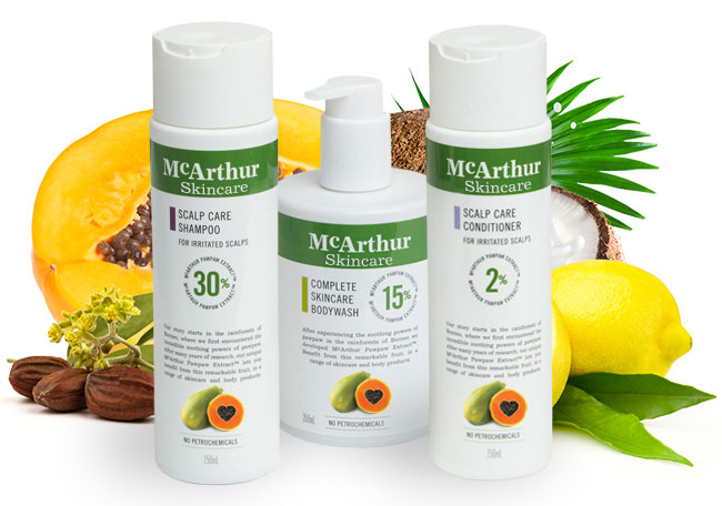 McArthur Skincare's Scalp Care Shower Pack Natural Ingredients