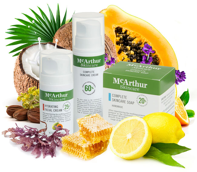 McArthur Skincare's Complete Pack Natural Ingredients