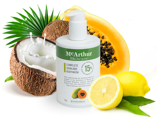McArthur Skincare's Complete Skincare Paw Paw Body Wash Natural Ingredients