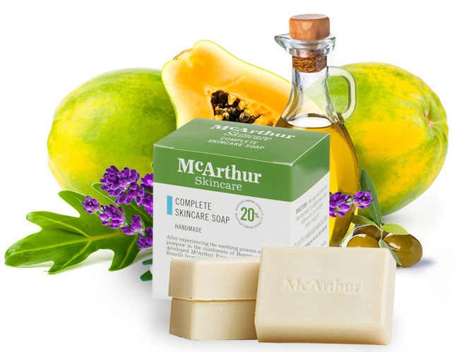 McArthur Skincare's Complete Skincare Soap Natural Ingredients