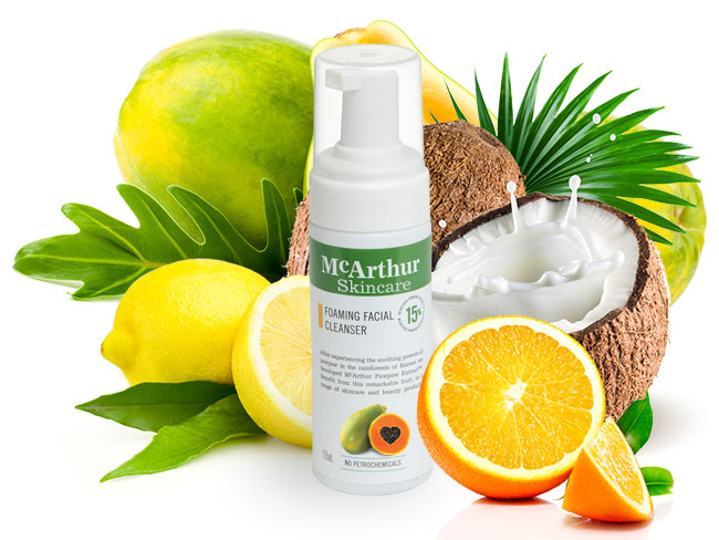 McArthur Skincare's Foaming Facial Cleanser Natural Ingredients