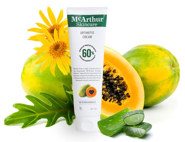 McArthur Skincare's Arthritis Cream Natural Ingredients