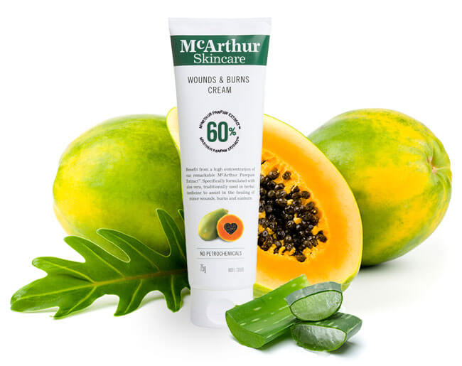McArthur Skincare's Wounds & Burns Cream Natural Ingredients