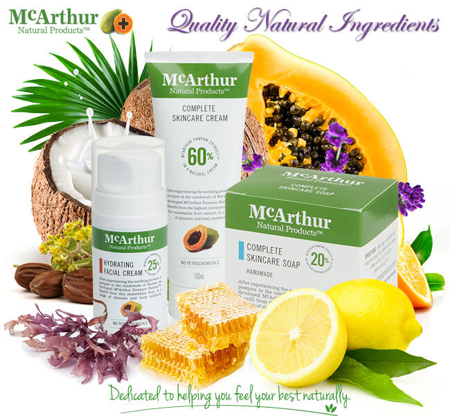 McArthur Natural Products uses Quality Natural Ingredients