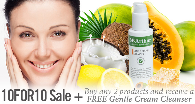 10FOR10 Sale PLUS Buy any 2 products and receive a FREE Gentle Cream Cleanser