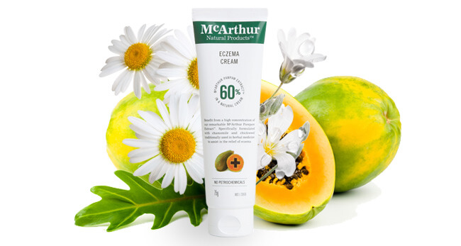 McArthur Natural Products' Eczema Cream containing 60% of our McArthur Pawpaw ExtractTM