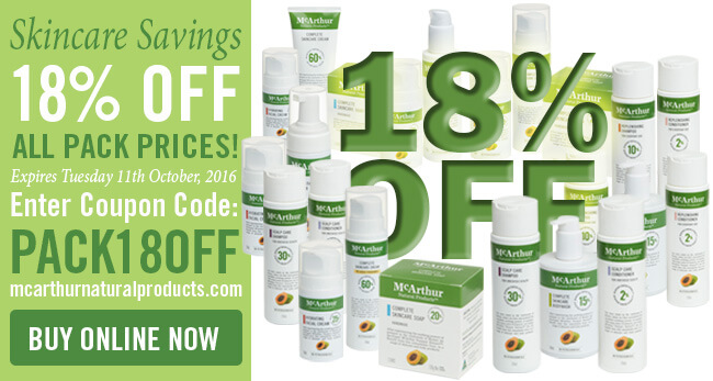 Skincare Savings 18% OFF All Pack Prices