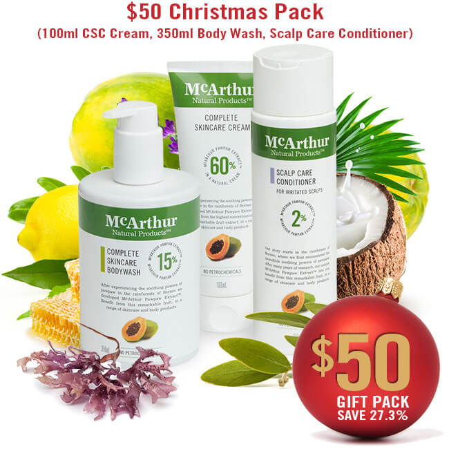 $50 Christmas Pack (100ml CSC Cream, 350ml Body Wash, Scalp Care Conditioner)