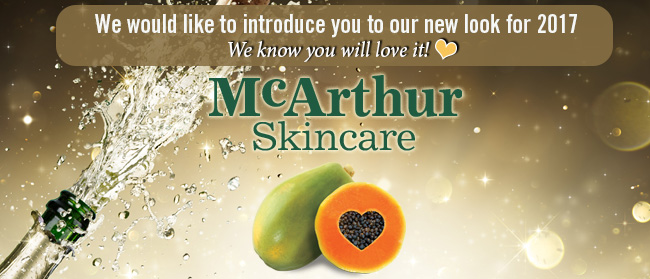We've shortened our name to represent what we do, and so are now called McArthur Skincare