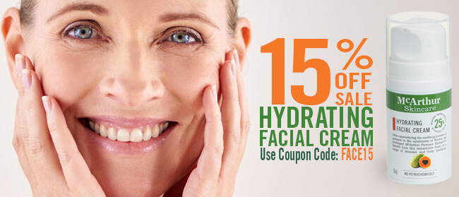Save 15% OFF Hydrating Facial Cream Sale