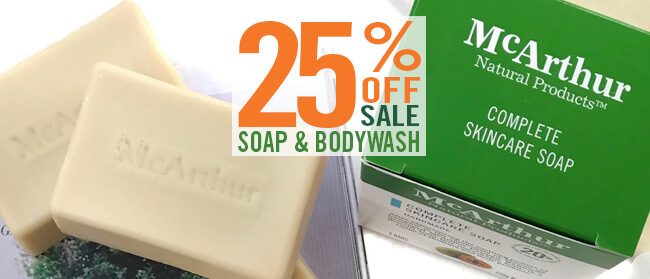Save on Soap - 25% OFF McArthur Skincare Soap & Bodywash