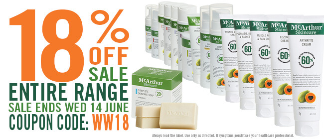 18% OFF McArthur Skincare Winter Warmer Sale